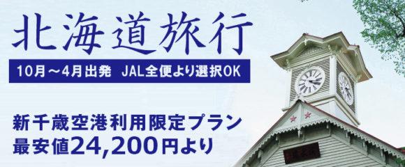 東京発■JAL新千歳空港限定格安プラン!10-4月出発■ 最安値24,200円~
