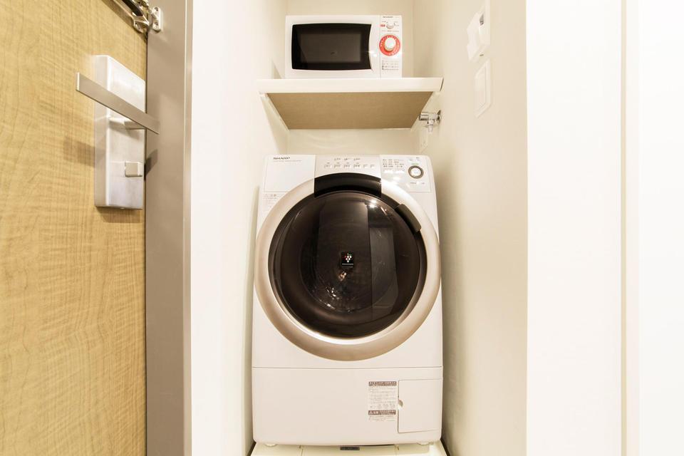 ★殆どの客室に洗濯乾燥機を設置