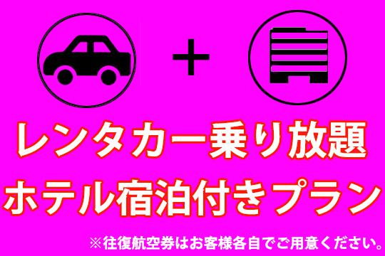 ★レンタカー+ホテル宿泊プラン