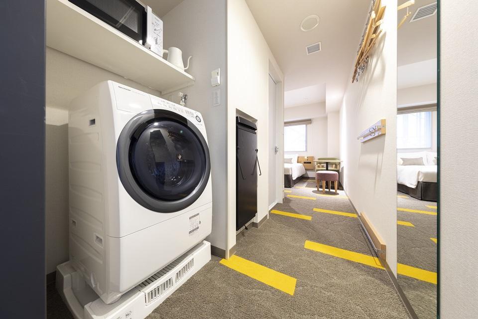 ★全ての客室に洗濯乾燥機&電子レンジ!